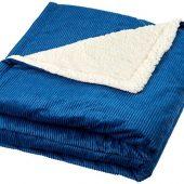 Шерповое покрывало Cosie с вельветом, темно-синий, арт. 018493603