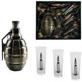 Подарочный набор для водки с фарфоровым штофом Бей врага до последнего патрона, арт. 018516203