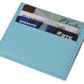 Чехол для карточек и денег Weekend из ПВХ, голубой, арт. 018583403