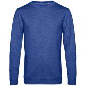 Свитшот унисекс Set In, ярко-синий меланж, размер L