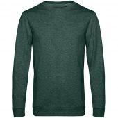 Свитшот унисекс Set In, темно-зеленый меланж, размер XXL