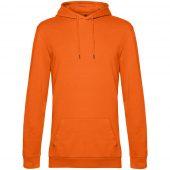 Толстовка с капюшоном унисекс Hoodie, оранжевая, размер L