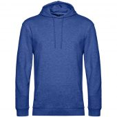 Толстовка с капюшоном унисекс Hoodie, ярко-синий меланж, размер XXL