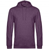 Толстовка с капюшоном унисекс Hoodie, фиолетовый меланж, размер XXL