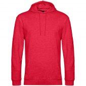 Толстовка с капюшоном унисекс Hoodie, красный меланж, размер XL