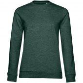 Свитшот женский Set In, темно-зеленый меланж, размер L