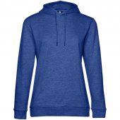 Толстовка с капюшоном женская Hoodie, ярко-синий меланж, размер L