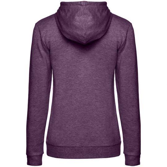 Толстовка с капюшоном женская Hoodie, фиолетовый меланж, размер S