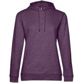 Толстовка с капюшоном женская Hoodie, фиолетовый меланж, размер XXL