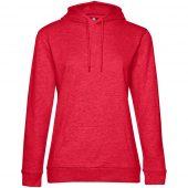 Толстовка с капюшоном женская Hoodie, красный меланж, размер S