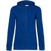Толстовка на молнии с капюшоном женская BNC Organic, ярко-синяя, размер XL