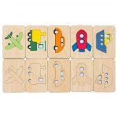 Карточки-раскраски Wood Games, транспорт