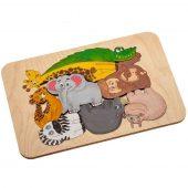 Пазл-раскраска Wood Games, африканские животные