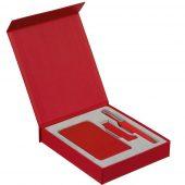 Коробка Latern для аккумулятора 5000 мАч, флешки и ручки, красная