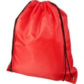 Рюкзак со шнурком Oriole из переработанного ПЭТ, красный, арт. 018954003