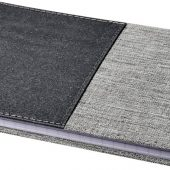 Блокнот Mera RPET размераA5 с передним карманом, серый, арт. 018958603