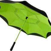 Прямой зонтик Yoon 23 с инверсной раскраской, лайм, арт. 019013403