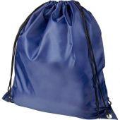 Рюкзак со шнурком Oriole из переработанного ПЭТ, темно-синий, арт. 018954103