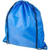Рюкзак со шнурком Oriole из переработанного ПЭТ, синий, арт. 018954303
