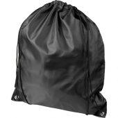 Рюкзак со шнурком Oriole из переработанного ПЭТ, черный, арт. 018953903
