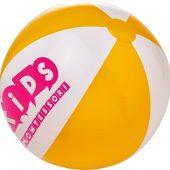 Непрозрачный пляжный мяч Bora, желтый/белый, арт. 019070803