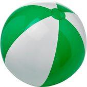 Непрозрачный пляжный мяч Bora, зеленый/белый, арт. 019070403