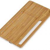 Беспроводное зарядное устройство-органайзер из бамбука Timber, темно-натуральный/белый, арт. 019034103