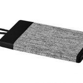Портативное зарядное устройство Weave на 4000мАч с тканевым покрытием, черный, арт. 019018003
