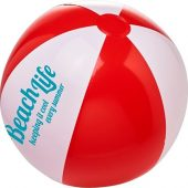 Непрозрачный пляжный мяч Bora, красный/белый, арт. 019070703