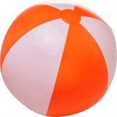 Непрозрачный пляжный мяч Bora, оранжевый/белый, арт. 019070603