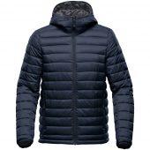 Куртка компактная мужская Stavanger темно-синяя с серым, размер 5XL