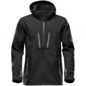 Куртка софтшелл мужская Patrol черная с серым, размер M