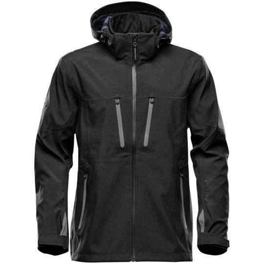 Куртка софтшелл мужская Patrol черная с серым, размер S