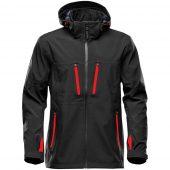 Куртка софтшелл мужская Patrol черная с красным, размер M