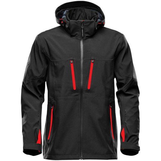 Куртка софтшелл мужская Patrol черная с красным, размер 3XL
