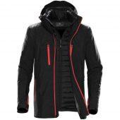 Куртка-трансформер мужская Matrix черная с красным, размер XXL