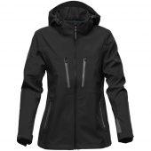 Куртка софтшелл женская Patrol черная с серым, размер S
