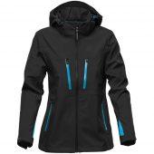 Куртка софтшелл женская Patrol черная с синим, размер XXL