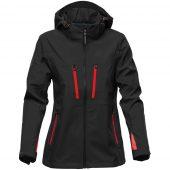 Куртка софтшелл женская Patrol черная с красным, размер L
