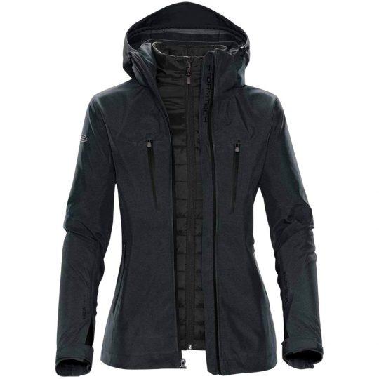 Куртка-трансформер женская Matrix серая с черным, размер L