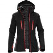 Куртка-трансформер женская Matrix черная с красным, размер L