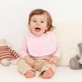 Нагрудник детский Baby Prime, розовый с молочно-белым
