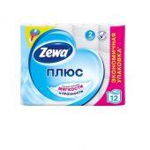 Туалетная бумага Zewa Плюс белая 12 шт