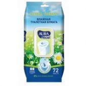 Влажная туалетная бумага Aura Nice! ромашка 72 шт