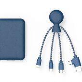 Портативное зарядное устройство BioPack c кабелем Mr. Bio, 5000 mAh, синий, арт. 019340103