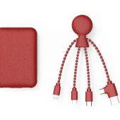 Портативное зарядное устройство BioPack c кабелем Mr. Bio, 5000 mAh, красный, арт. 019340203