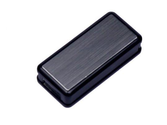 USB-флешка промо на 64 ГБ прямоугольной формы, выдвижной механизм, черный (64Gb), арт. 019400603
