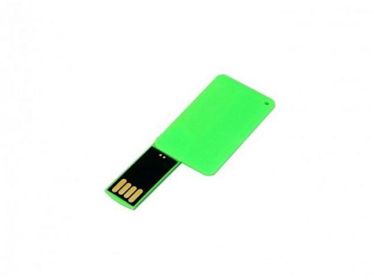 USB-флешка на 32 Гб в виде пластиковой карточки, зеленый (32Gb), арт. 019396403