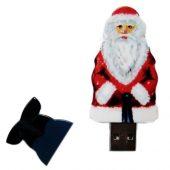 USB-флешка на 8 Гб Дед Мороз Santa под нанесение, белый (8Gb), арт. 019469303
