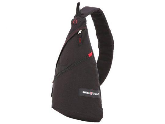 Рюкзак SWISSGEAR с одним плечевым ремнем, 25x15x45 см, 7 л, черный/красный (7л), арт. 019558503